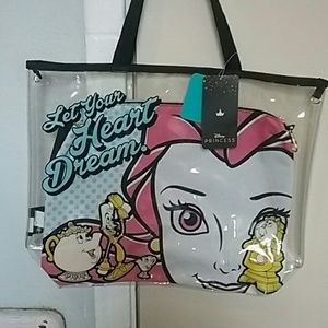 Disney Princess Belle clear beach tote